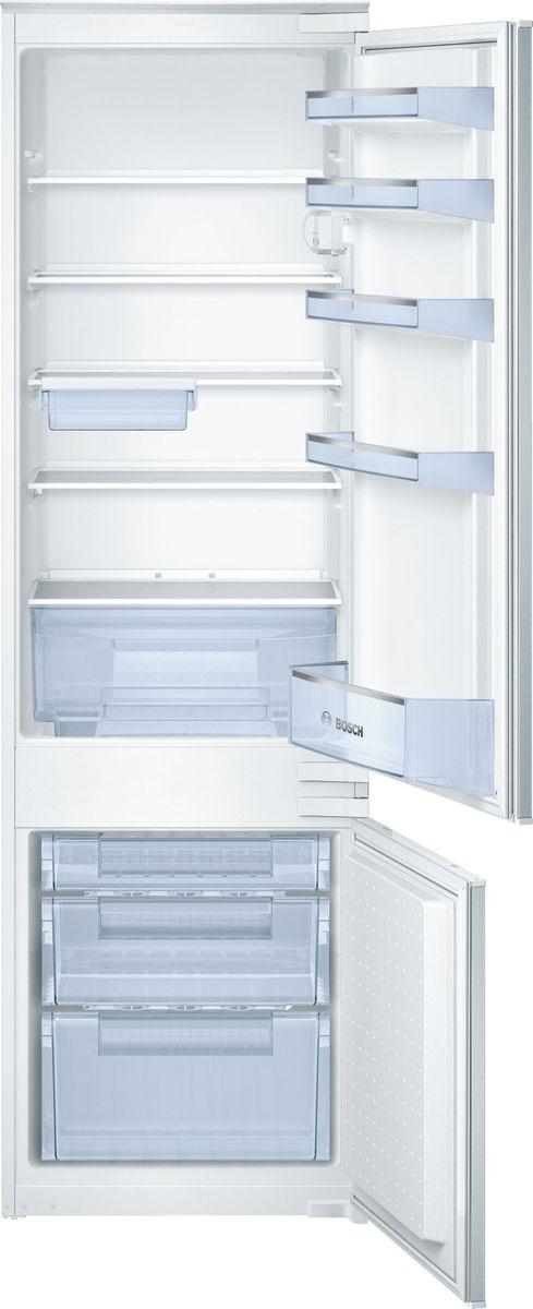Холодильник Bosch KIV38V20RU, встраиваемый, двухкамерный, белый