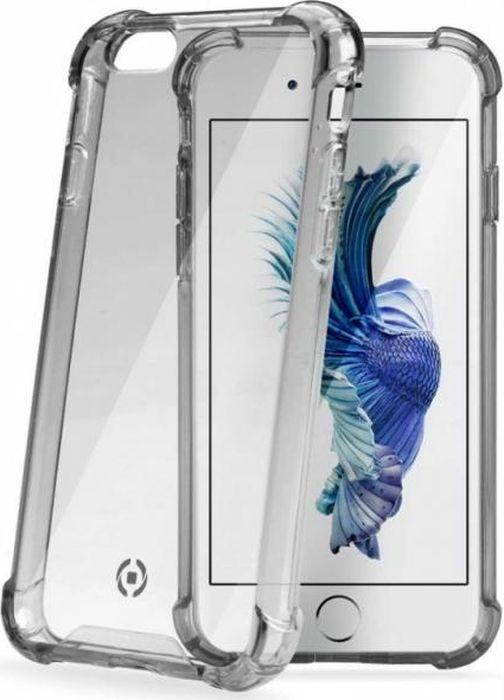 Чехол для сотового телефона Celly Armor для Apple iPhone 6/6S, ARMOR700BK, дымчатый цены