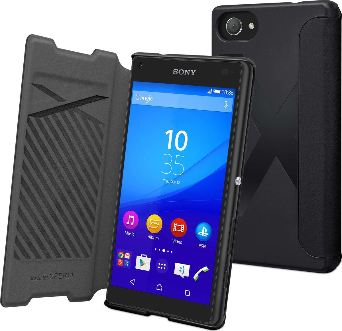 Чехол для сотового телефона Muvit MFX Easy Folio Case для Sony Xperia Z5 Compact, SEEAF0034, черный цена