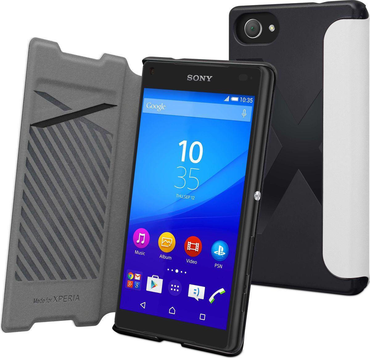 Чехол для сотового телефона Muvit MFX Easy Folio Case для Sony Xperia Z5 Compact, SEEAF0035, белый