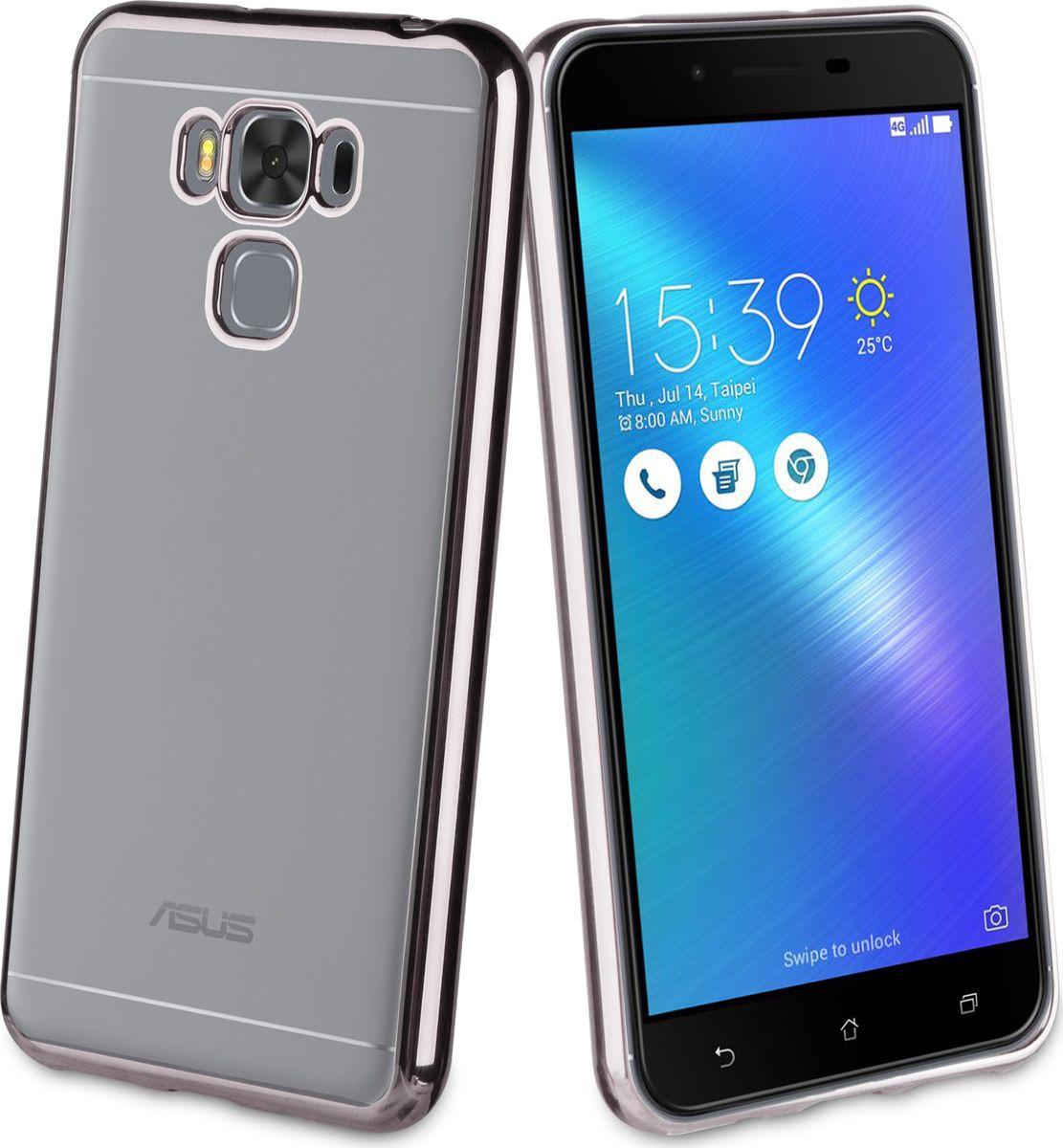 Чехол для сотового телефона Muvit Bling Case для ASUS Zenfone 3 Max (ZC553KL), MLBKC0182, металлик zc553kl 4h112ru