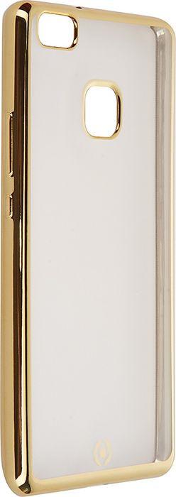 Чехол для сотового телефона Celly Laser для Huawei P9 Lite, BCLP9LITEGD, прозрачный, золотой цена 2017