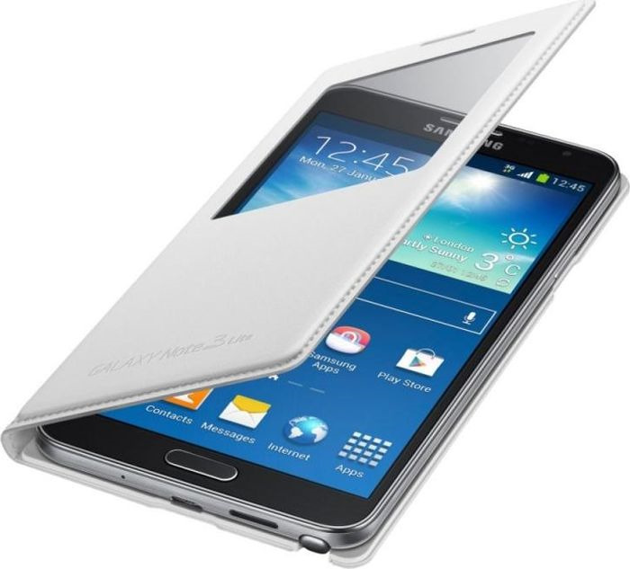 Чехол для сотового телефона Samsung S View Note 3 Neo N750x, EF-CN750BWEGRU, белый видео для samsung s