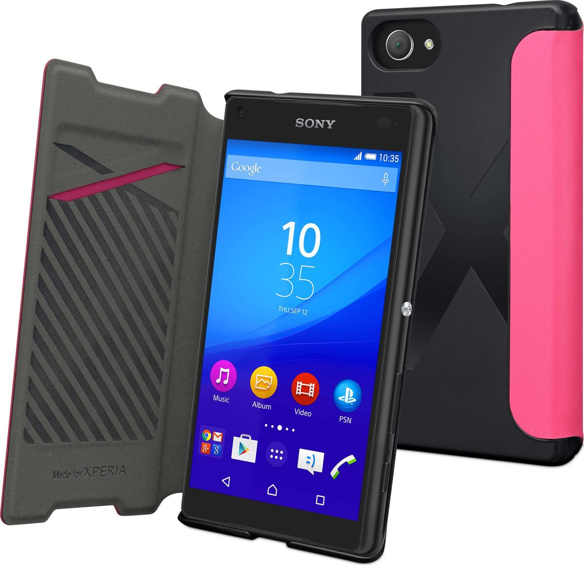 Чехол для сотового телефона Muvit MFX Easy Folio Case для Sony Xperia Z5 Compact, SEEAF0036, розовый цена