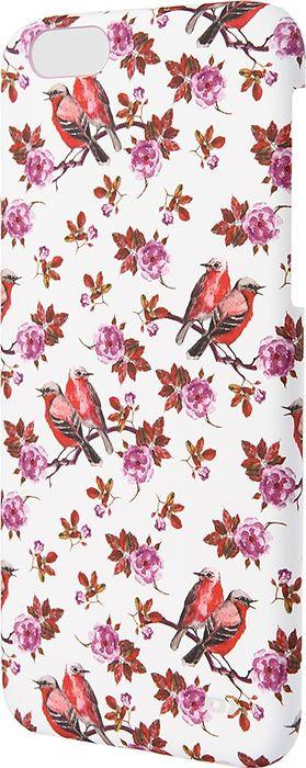 Чехол для сотового телефона OXO Floral Cover Case для iPhone 6/6S, XCOIP64FBIPK6, розовый elonbo flowers mosaic plastic back case for iphone 6 4 7 deep pink pink multi color