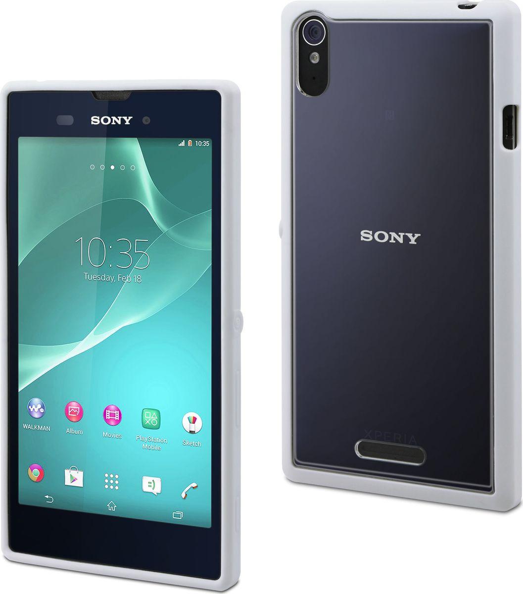 Чехол для сотового телефона Muvit MFX Bimat Case для Sony Xperia T3, SEBMC0034, белый чехол для sony f8331 f8332 xperia xz skinbox lux case черный