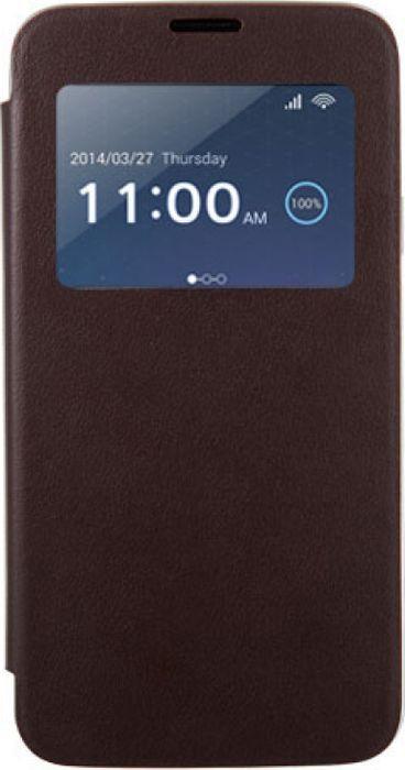 Чехол для сотового телефона Anymode G900F для Galaxy S5 View Flip, F-DMFC000KBR, коричневый чехол для сотового телефона alcatel fc5050 flip cover для pop s3 f gcgc6130k12c1 a1 шоколад