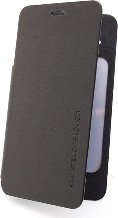 Чехол для сотового телефона Alcatel FC6010 Flip Cover для Star Dual, F-GCGB32U0A11C1-A1, черный чехол для сотового телефона alcatel fc5050 flip cover для pop s3 f gcgc6130k12c1 a1 шоколад