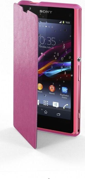 Чехол для сотового телефона Muvit MFX Easy Folio Case для Sony Xperia Z5, SEEAF0039, розовый все цены