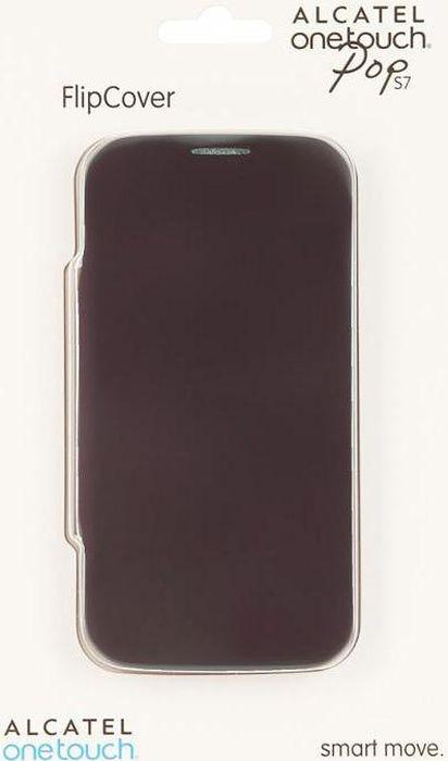 Чехол для сотового телефона Alcatel FC7045 Flip Cover для Pop S7, F-GCGC33J0H11C1-A1, фиолетовый чехол для сотового телефона alcatel fc5050 flip cover для pop s3 f gcgc6130k12c1 a1 шоколад