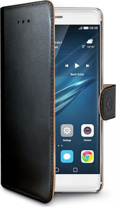 Чехол для сотового телефона Celly Wally Case для Huawei P9, WALLY576, черный аксессуар чехол samsung galaxy s7 celly wally case black wally590