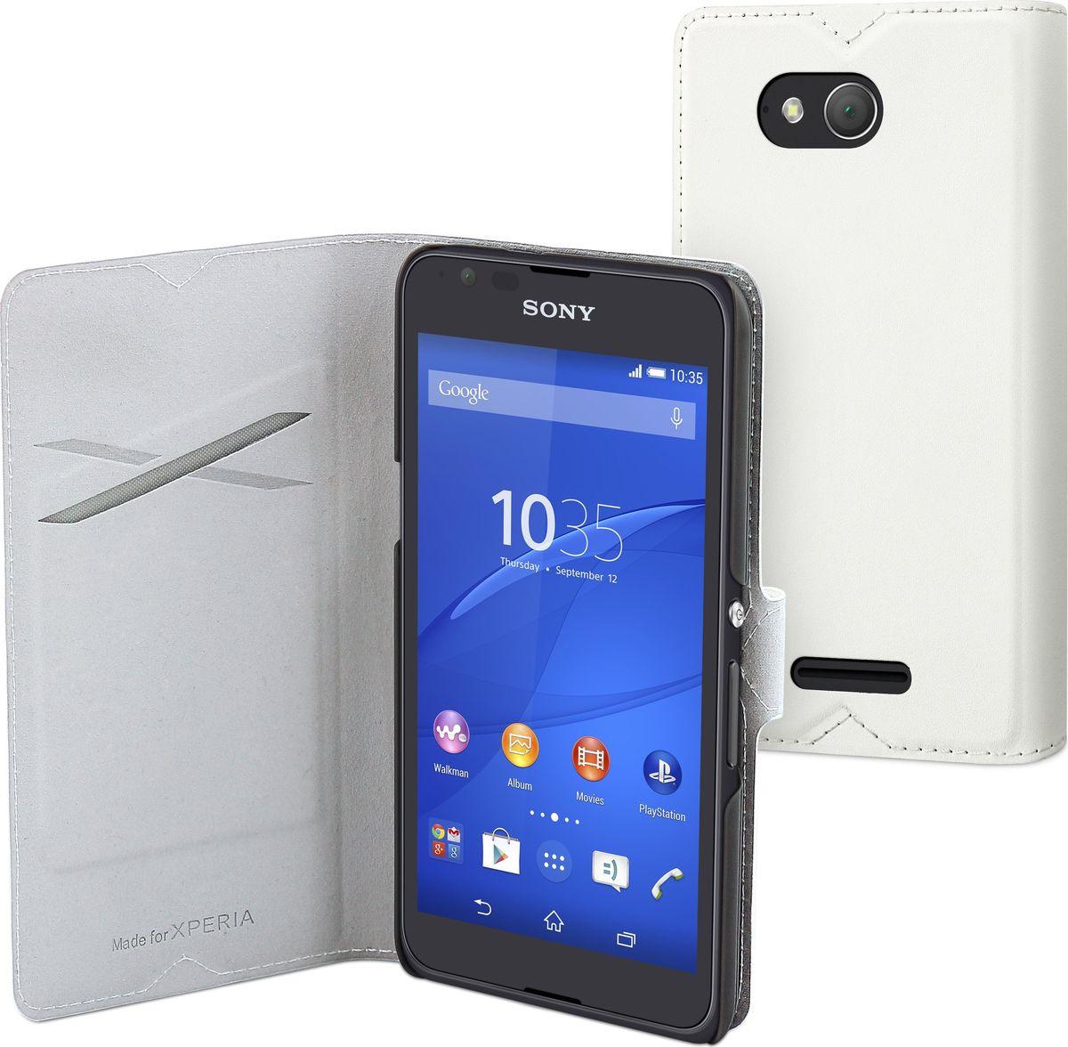 Чехол для сотового телефона Muvit MFX Slim S Folio для Sony Xperia E4g (e2_III Calla), SESLI0137, белый стоимость