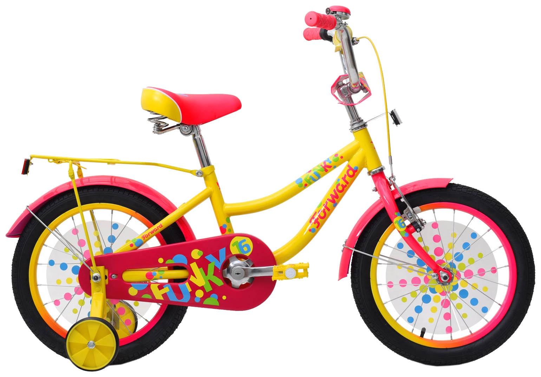 Велосипед Forward FUNKY 16, RBKW9LNG1011, желтый недорго, оригинальная цена