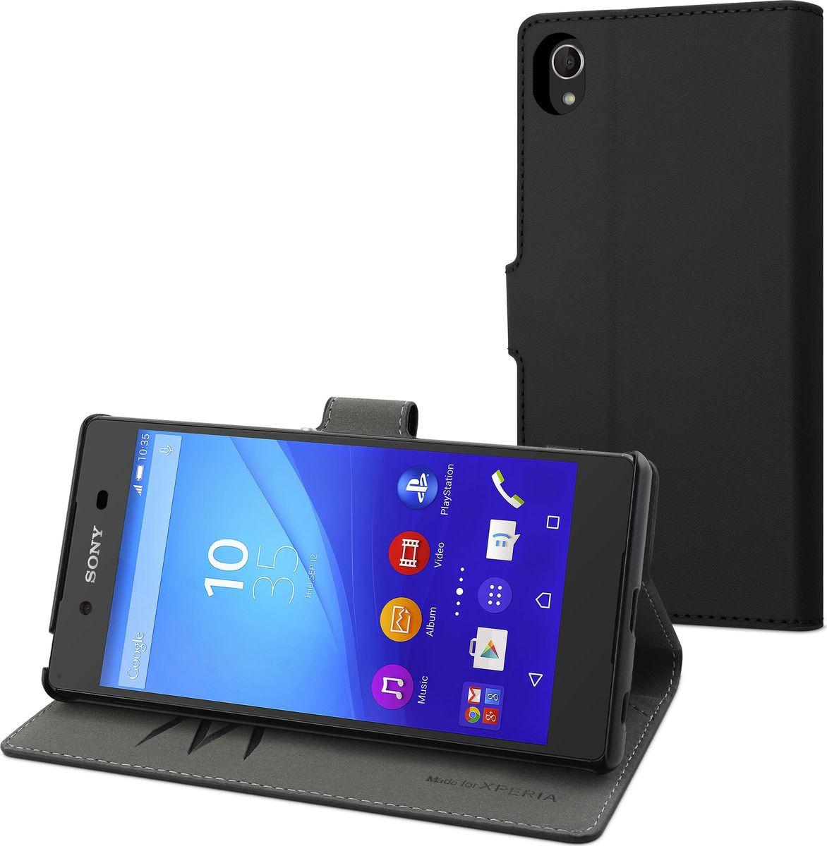 Чехол для сотового телефона Muvit MFX Wallet Folio Case для Sony Xperia Z3+, SEWAL0013, черный чехол книжка gresso канцлер для sony xperia xa ultra черный
