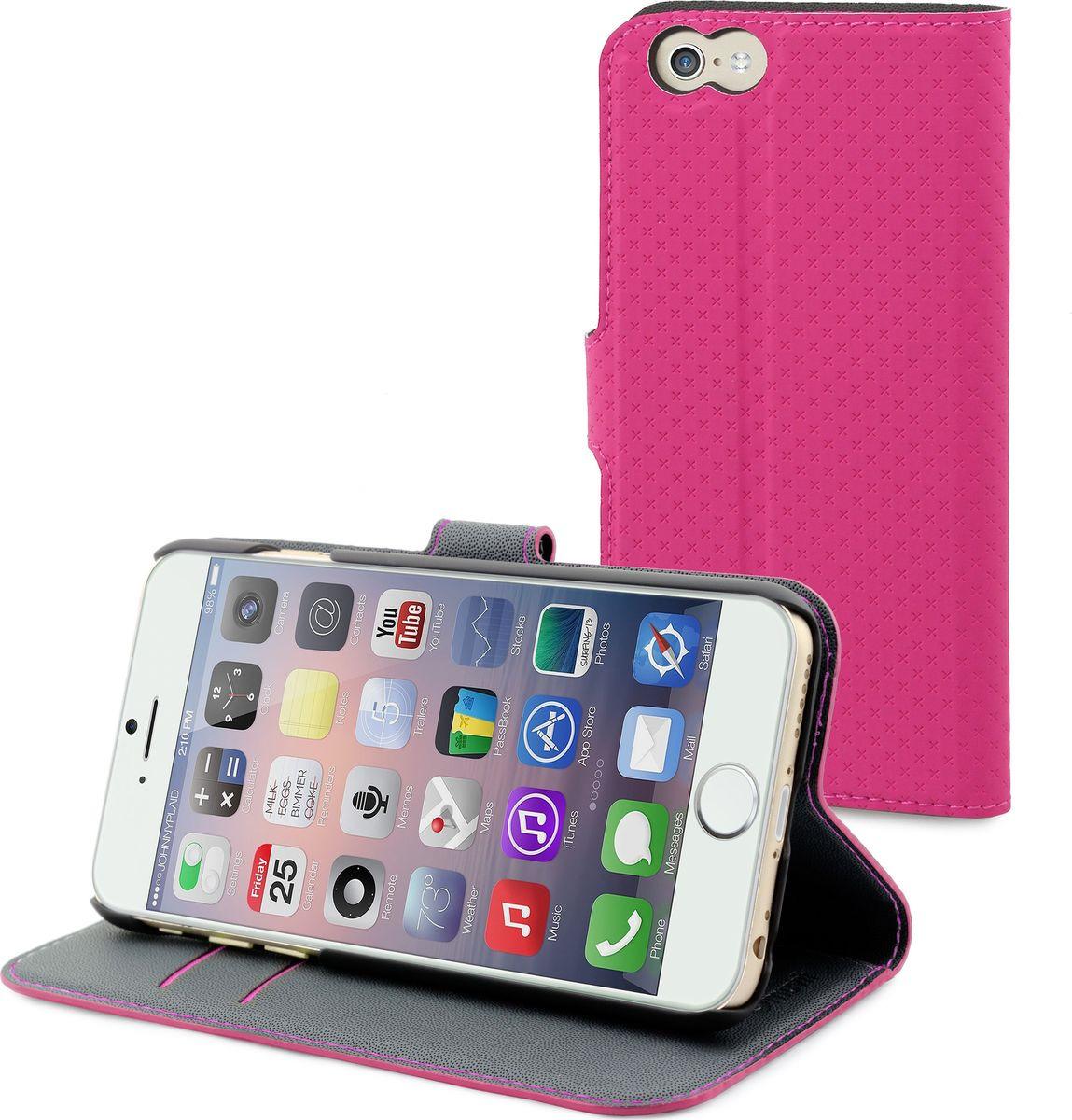 Чехол для сотового телефона Muvit Wallet Folio Stand Case для Apple iPhone 6/6S, MUSNS0049, розовый цена