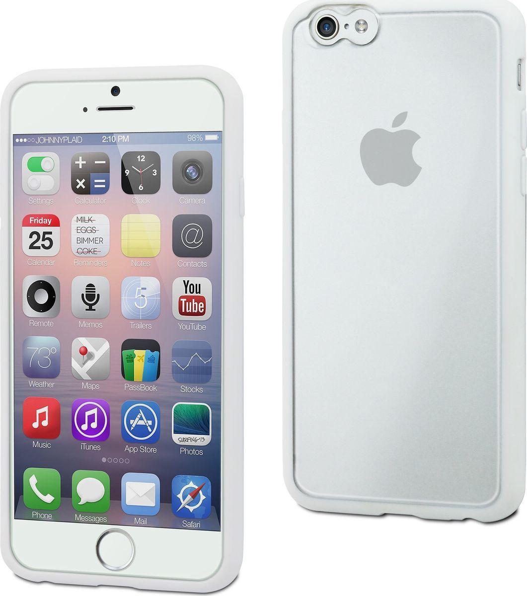 Чехол для сотового телефона Muvit MyFrame Case для Apple iPhone 6/6S Plus, MUBMC0104, белый 12storeez жакет на молнии из вельвета коричневый