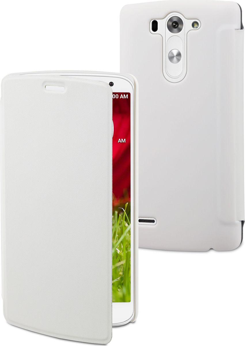 Чехол для сотового телефона Muvit Easy Folio Case для LG G3 S, MUEAF0150, белый lg cfr 100c agrawh чехол книжка полиуретан белый