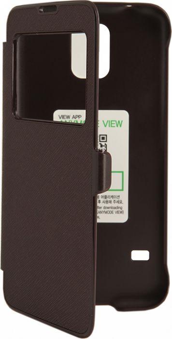 Чехол для сотового телефона Anymode G900F для Galaxy S5 ViewFlip Saf, F-DMVF000KBR, коричневый стоимость