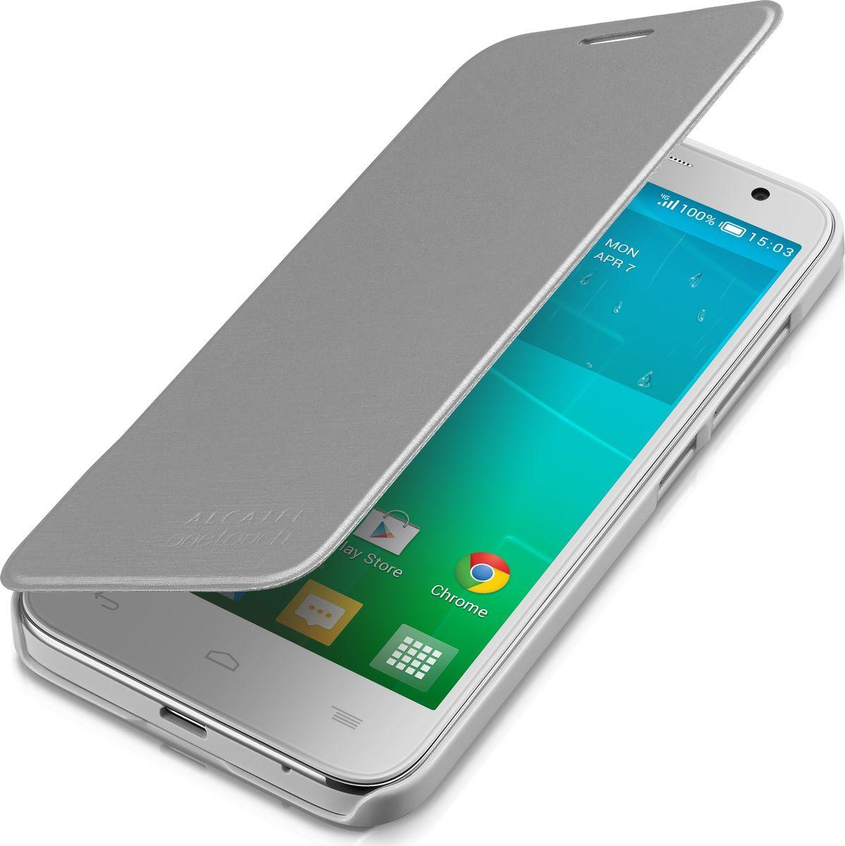 Чехол для сотового телефона Alcatel FC6036 для Idol 2 Mini S, F-GCGC60X0S11C1-A1, серый чехол для сотового телефона alcatel fc5050 flip cover для pop s3 f gcgc6130k12c1 a1 шоколад
