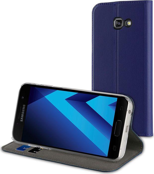 Чехол для сотового телефона Muvit Folio Stand Case для Samsung Galaxy A5 (2017), MUFLS0085, синий цена