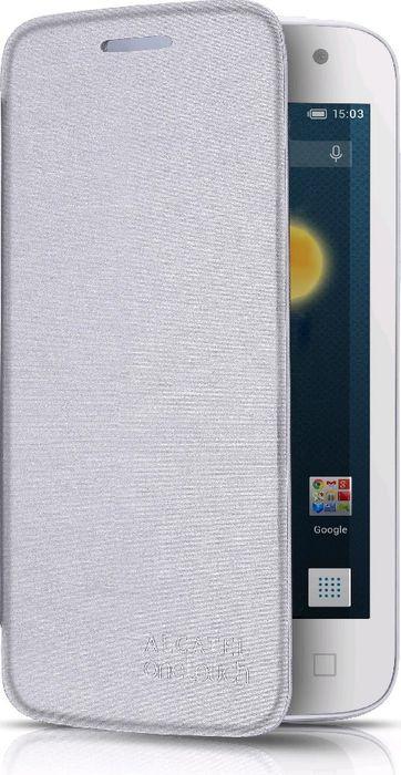 Чехол для сотового телефона Alcatel FC6050 для Idol 2S, F-GCGB60Y0C10C1-A1, серый чехол для сотового телефона alcatel fc5050 flip cover для pop s3 f gcgc6130k12c1 a1 шоколад