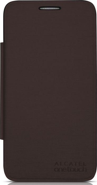 Чехол для сотового телефона Alcatel FC5050 Flip Cover для Pop S3, F-GCGC6130K12C1-A1, шоколад alcatel pop 3 5065d белый