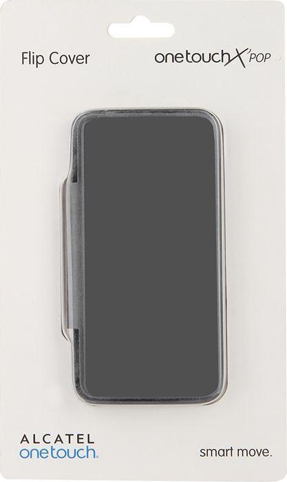 Чехол для сотового телефона Alcatel FC5035 Flip Cover для X'Pop, F-GCGB16T0A12C1-A1, черный картаев павел motorola moto m apple начала продавать подержанные iphone рамблер создаст сайт о кино попкорн