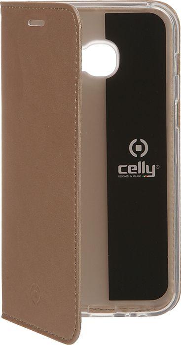 Чехол для сотового телефона Celly Air Case для Samsung Galaxy A3 (2017), AIR643GDCP, золотой аксессуар чехол samsung galaxy a8 celly air case black air705bkcp