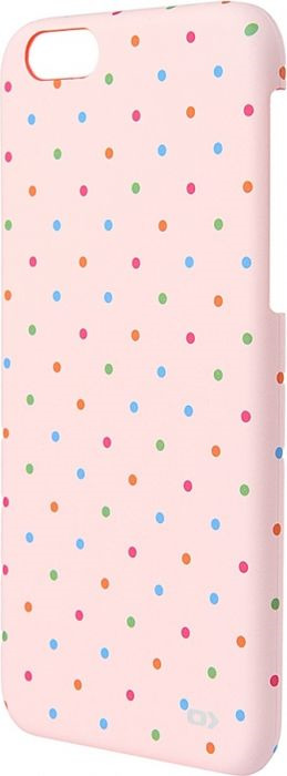 Чехол для сотового телефона OXO Dot Cover Case для iPhone 6/6S, XCOIP64DPopK6, розовый flip open protective pu case cover w view window for iphone 6 4 7 black translucent