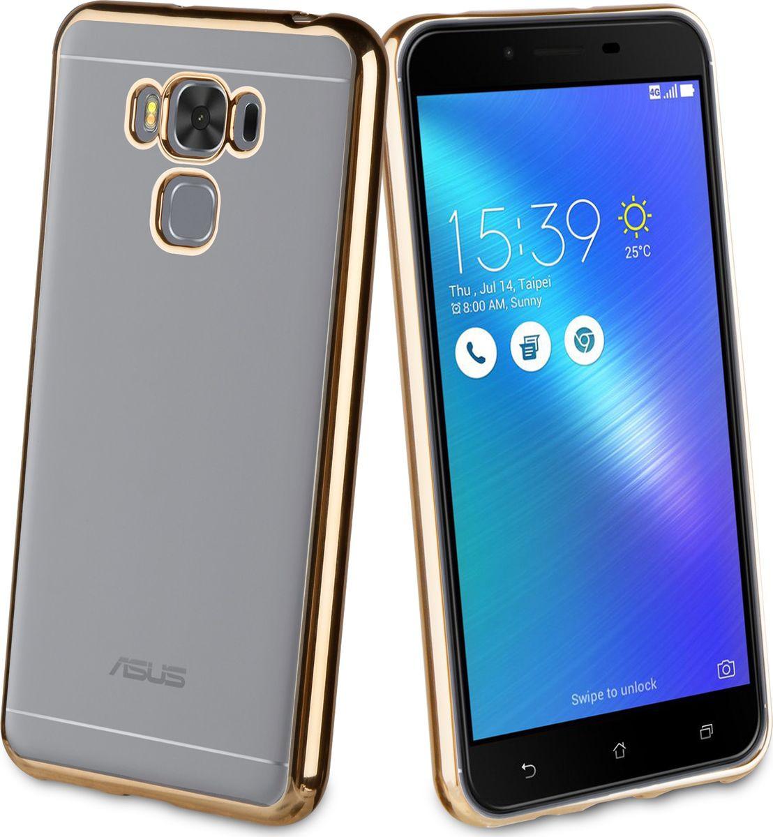 Чехол для сотового телефона Muvit Bling Case для ASUS Zenfone 3 Max (ZC553KL), MLBKC0181, золотой zc553kl 4h112ru