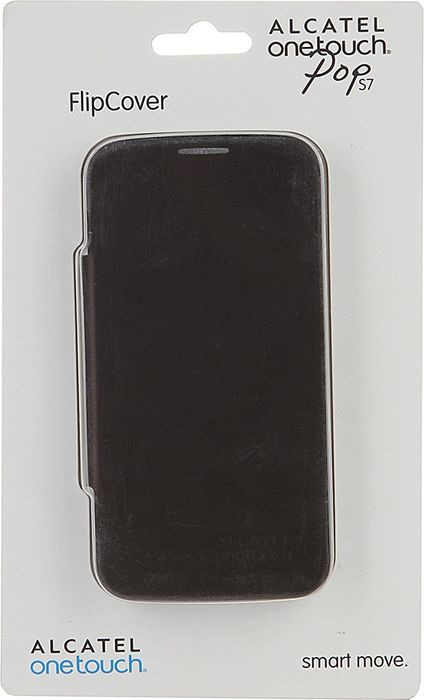 Чехол для сотового телефона Alcatel FC7045 Flip Cover для Pop S7, F-GCGC33J0K11C1-A1, шоколад чехол для сотового телефона alcatel fc5050 flip cover для pop s3 f gcgc6130k12c1 a1 шоколад