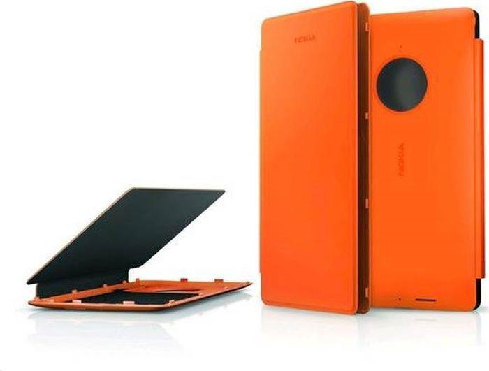 Чехол для сотового телефона Nokia для Nokia Lumia 830 с функцией беспроводного ЗУ, CP-627 оранж, оранжевый чехол nokia чехол nokia 8 leather flip cover black cp 801