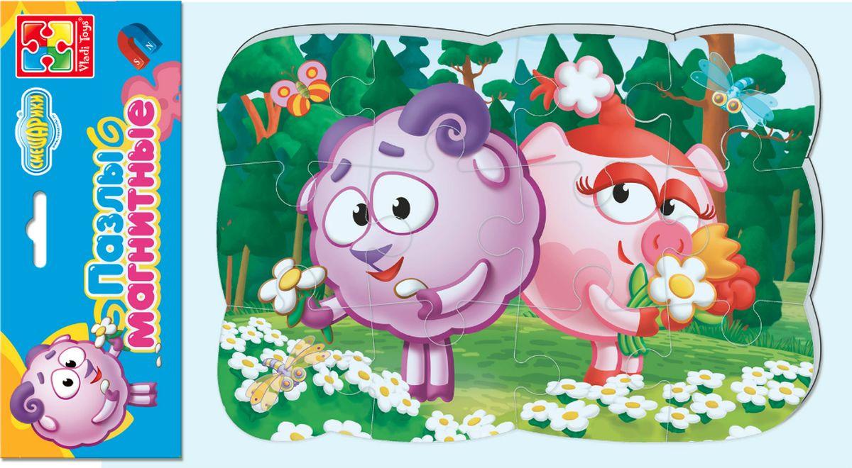 Магнитный пазл для малышей Vladi Toys Смешарики Бараш и Нюша, VT3205-64, 12 элементов игровые фигурки vladi toys мой маленький мир смешарики нюша и бараш