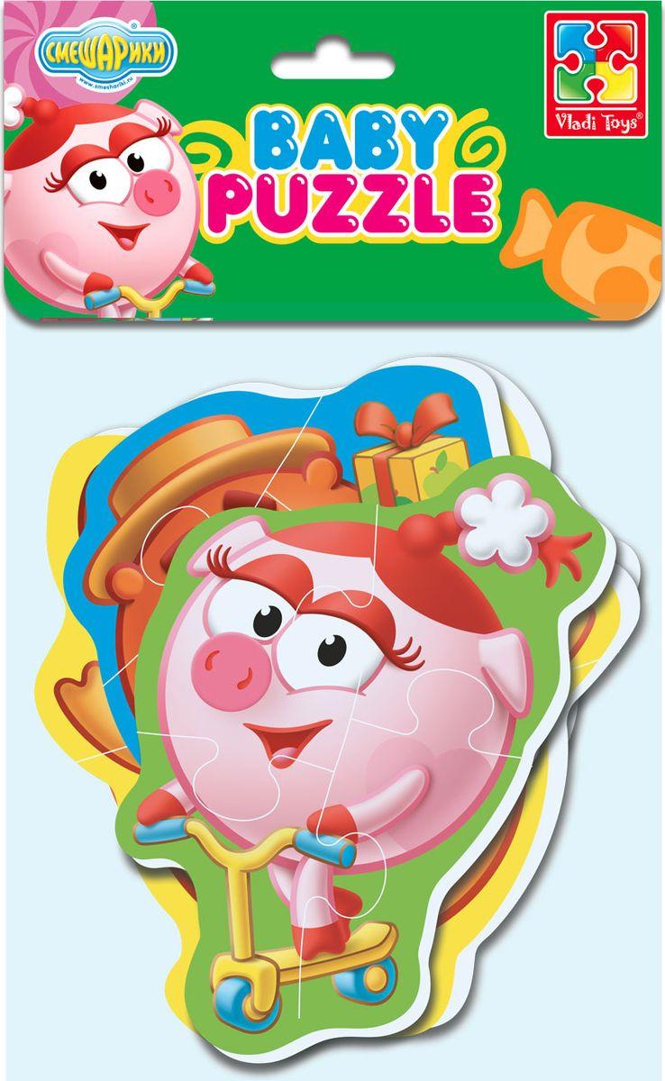 Пазл для малышей Vladi Toys Baby puzzle Смешарики Нюша, Бараш, Лосяш, Копатыч, VT1106-55 мягкий пазл 12 элементов vladi toys baby puzzle макси смешарики нюша и бараш vt1108 06