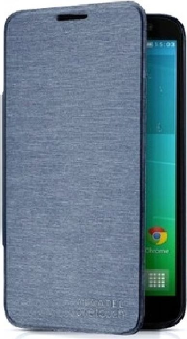 Чехол для сотового телефона Alcatel FC6037 для Idol 2, F-GCGB33F0C10C1-A1, серо-синий чехол для сотового телефона alcatel fc5050 flip cover для pop s3 f gcgc6130k12c1 a1 шоколад