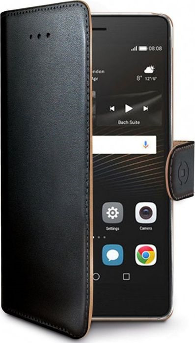 Чехол для сотового телефона Celly Wally Case для Huawei P9 Lite, WALLY564, черный цена 2017