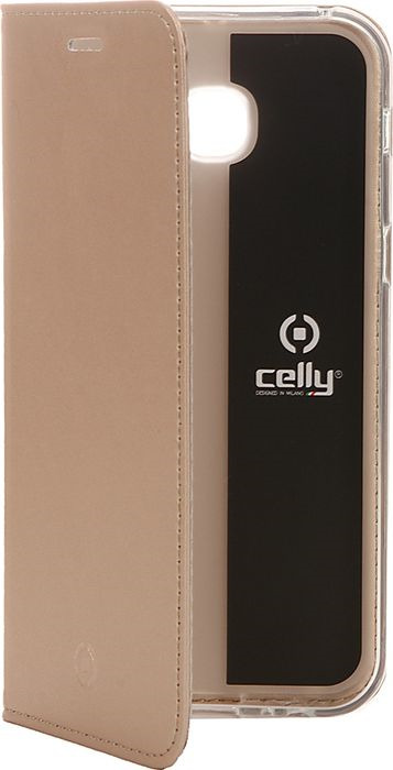 Чехол для сотового телефона Celly Air Case для Samsung Galaxy A5 (2017), AIR645GDCP, золотой чехол книжка samsung s view standing cover для galaxy a5 2017 золотой