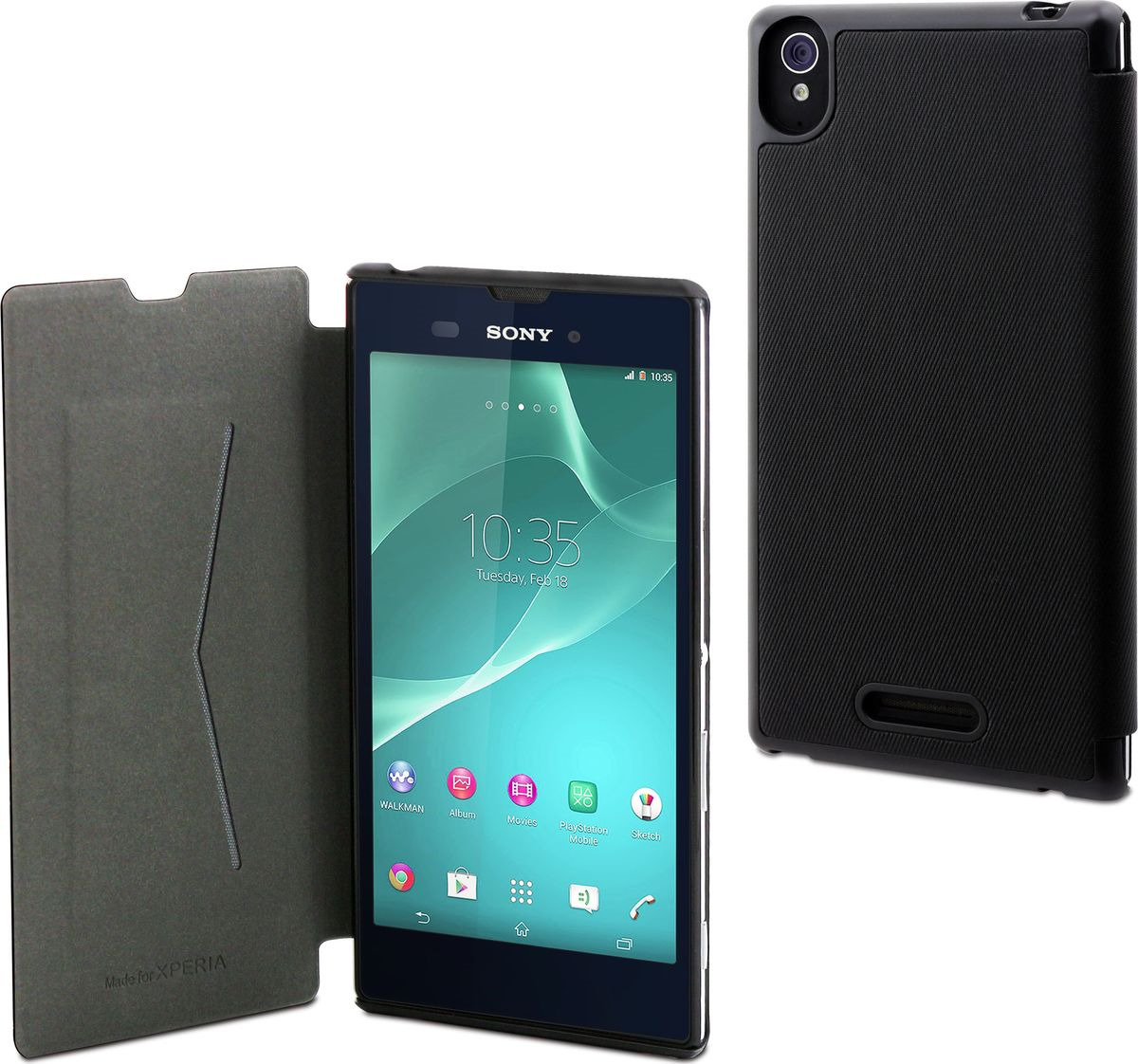 Чехол для сотового телефона Muvit MFX Ultra Slim Folio Case для Sony Xperia T3, SESLI0121, черный чехол книжка gresso канцлер для sony xperia xa ultra черный