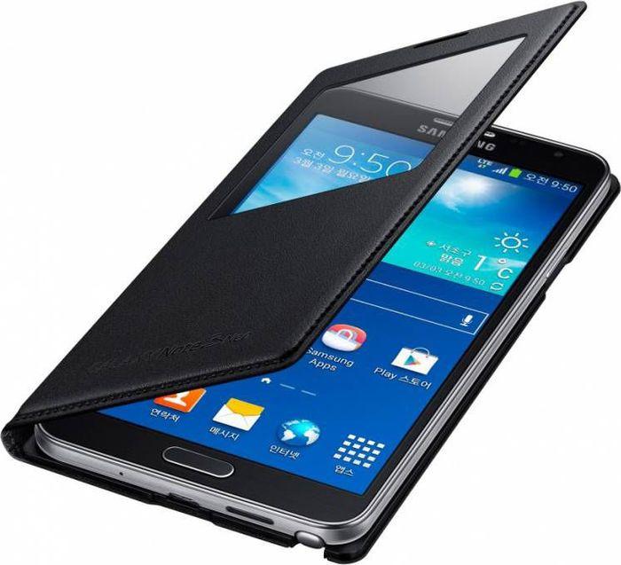 Чехол для сотового телефона Samsung S View Note 3 Neo N750x, EF-CN750BBEGRU, черный стоимость