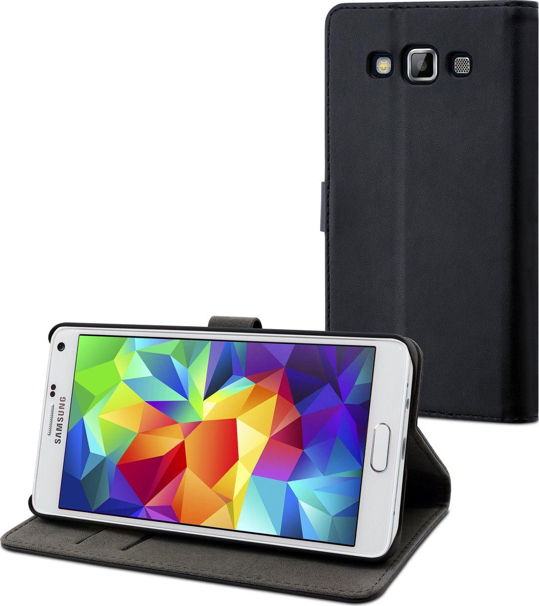Чехол для сотового телефона Muvit Slim S Folio для Samsung Galaxy A5 (SM-A500F), MUSLI0619, черный аккумулятор для телефона craftmann eb ba500abe для samsung galaxy a5 2015 sm a500f sm a500h