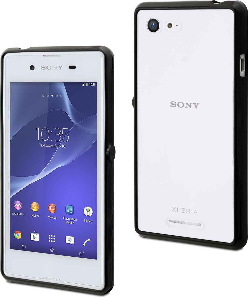 Чехол для сотового телефона Muvit MFX MyFrame Case для Sony Xperia E3, SEBMC0035, черный