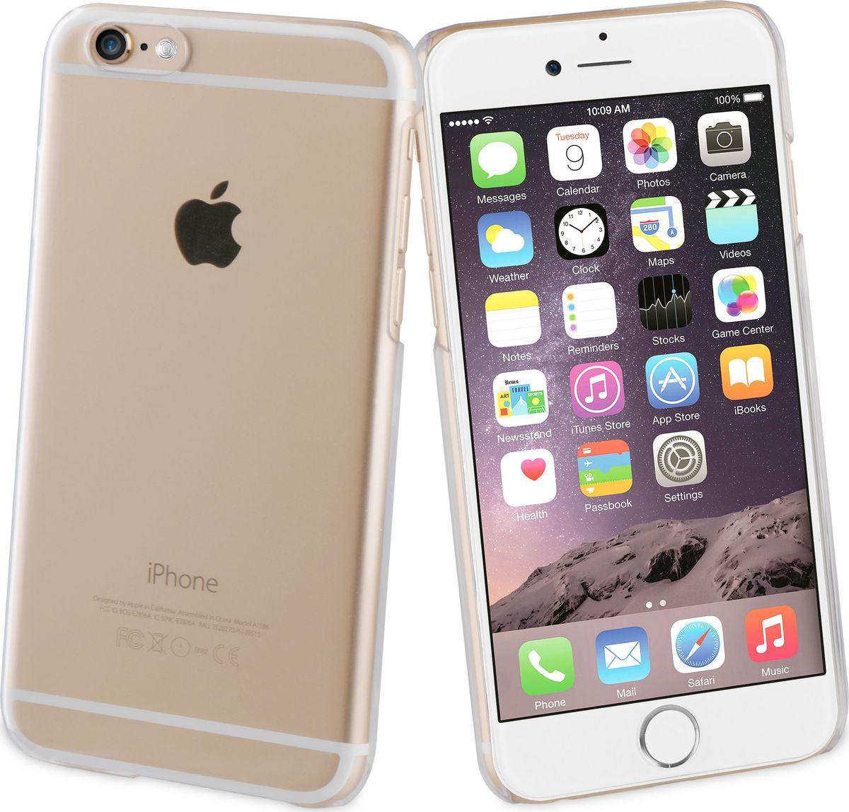 Чехол для сотового телефона Muvit Crystal Case для iPhone 6/6S, MUCRY0030, прозрачный nite ize niteize connect wallet case для apple iphone 6 6s чехол книжка поликарбонат черный