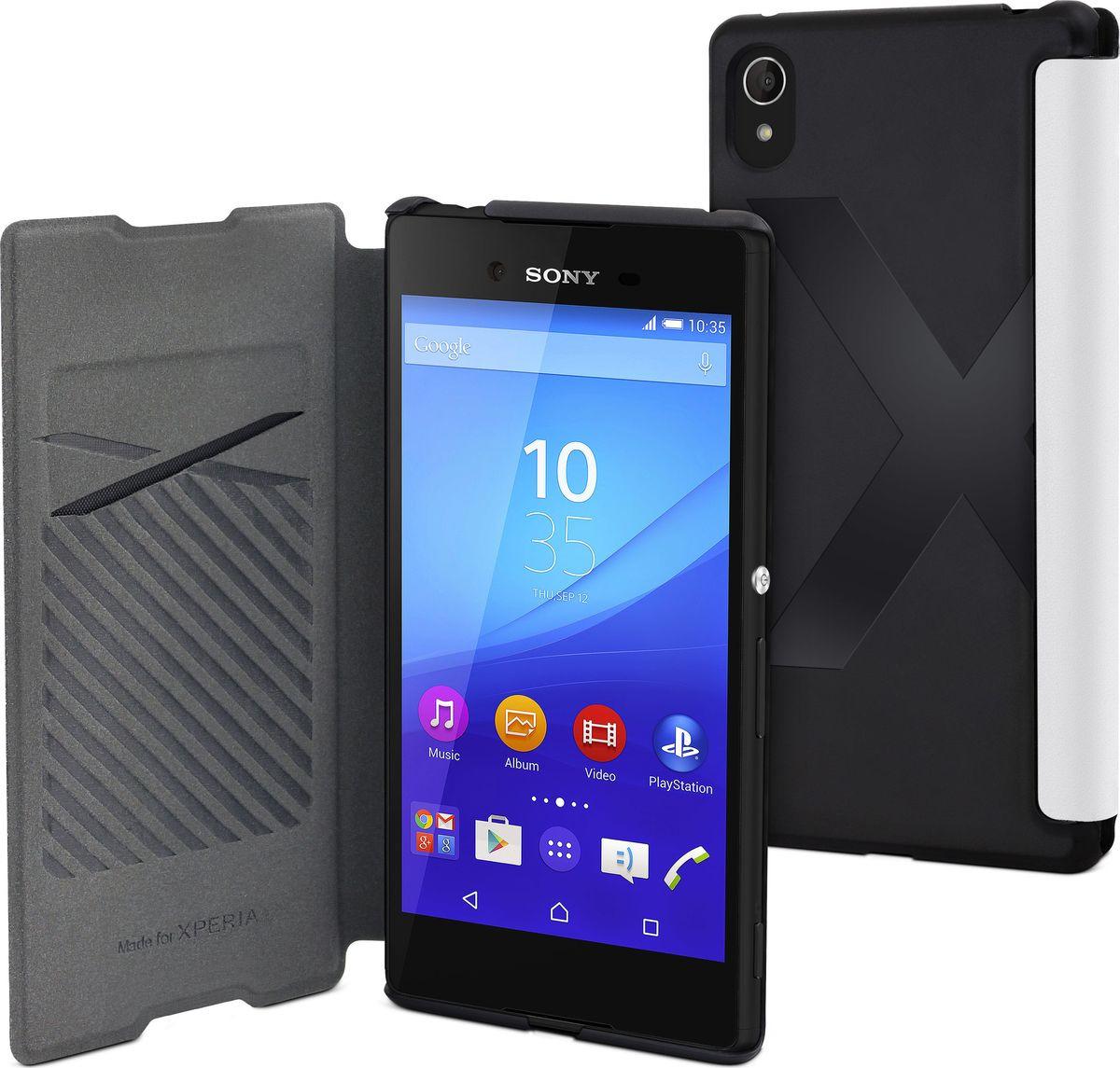 Чехол для сотового телефона Muvit MFX Easy Folio Case для Sony Xperia Z3+, SEEAF0032, белый кейс для назначение sony z5 sony xperia z3 sony xperia z3 compact xperia z5 xperia z3 xperia x кошелек со стендом чехол однотонный твердый кожа pu для sony xperia z2 sony xperia z3 sony