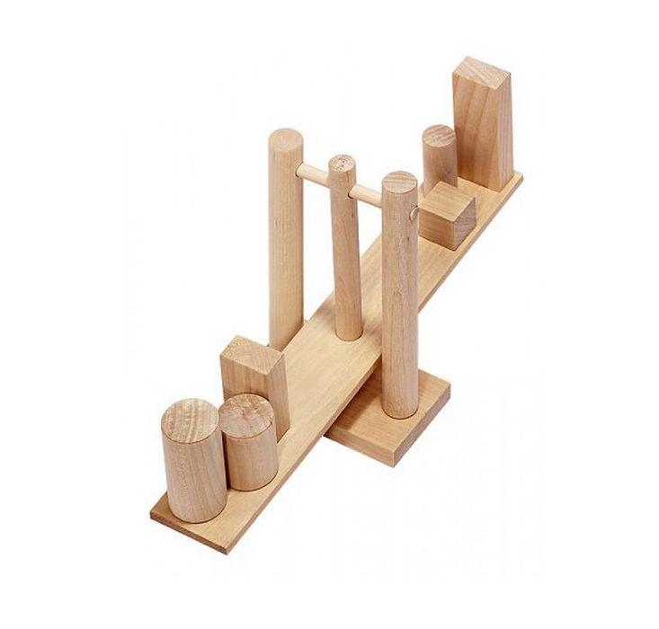 Развивающая игрушка Пелси Геометрические весы деревянные, 18668