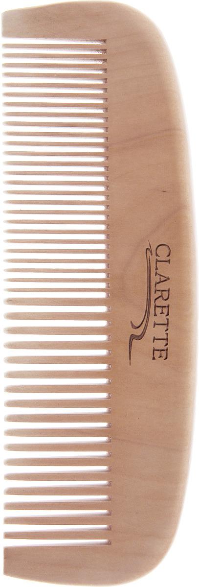 Clarette Расческа для волос деревянная прямая, цвет: бежевый clarette расческа комбинированная clarette