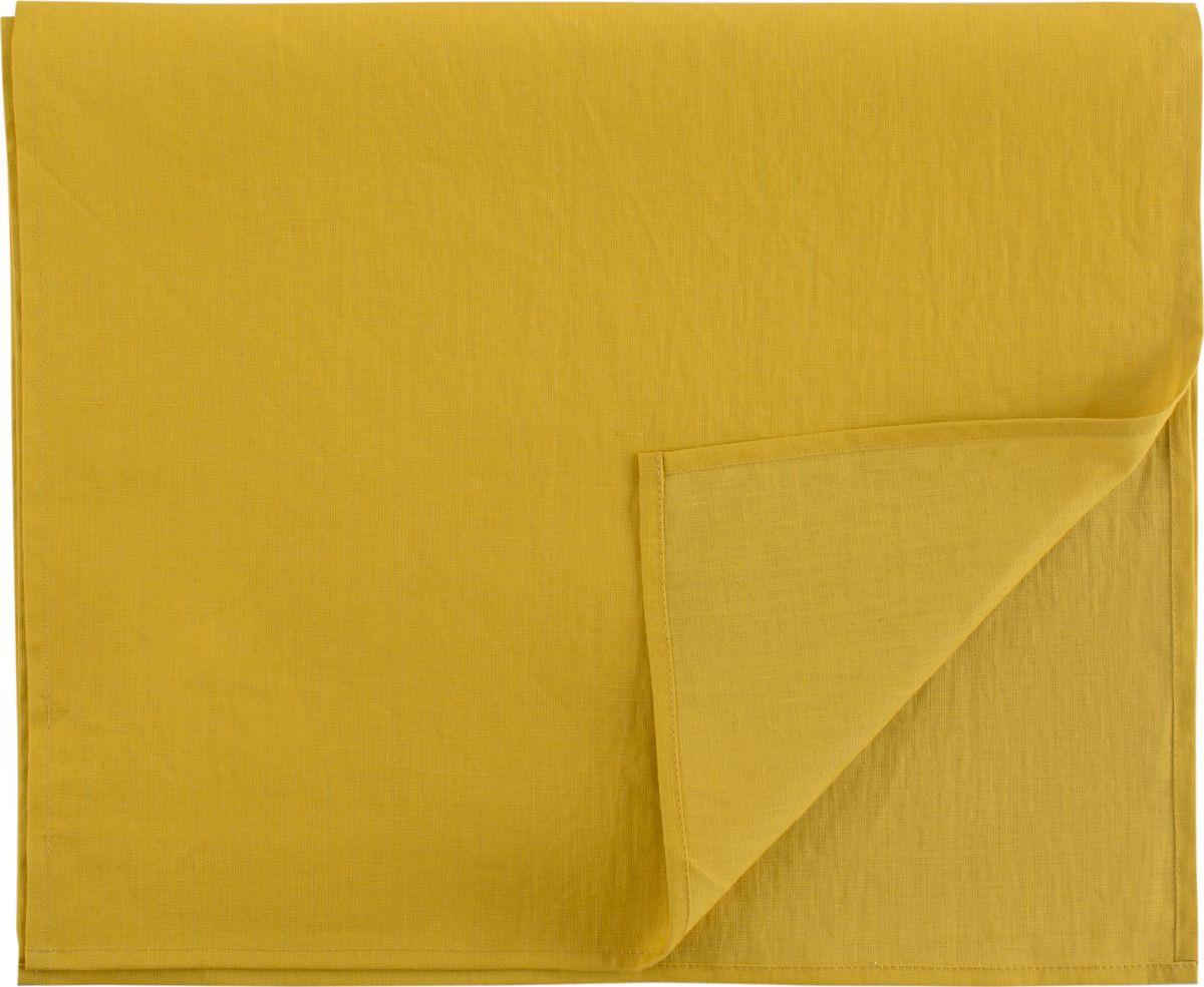 Дорожка на стол Tkano Essential, TK18-TR0011, с декоративной обработкой, горчичный, 45 x 150 см