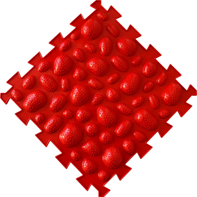 Коврик-пазл Орто Пазл морские камни мягкие, мкм(к) красный