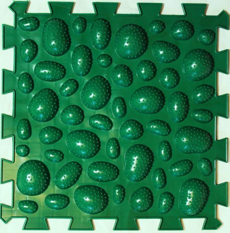 Коврик-пазл Орто Пазл морские камни мягкие, мкм(з) зеленый