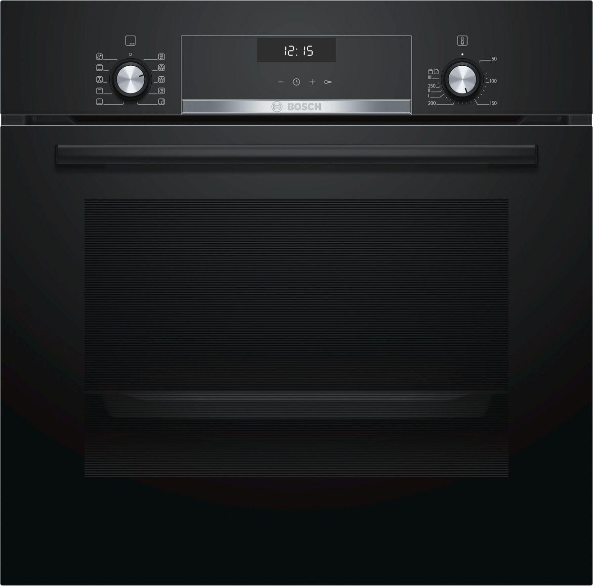 Духовой шкаф Bosch HBJ558YB0Q, встраиваемый, электрический, черный духовой шкаф bosch hbj558yb0q
