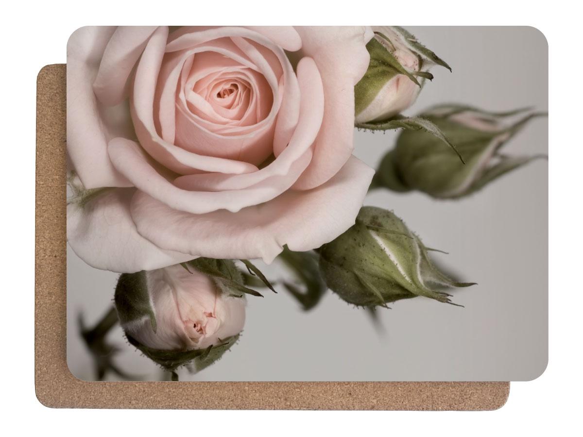 Фото - Подставка под горячее Аленький цветочек Набор 380х280 2 шт, 0101, Дерево, Пробка подставки и кронштейны